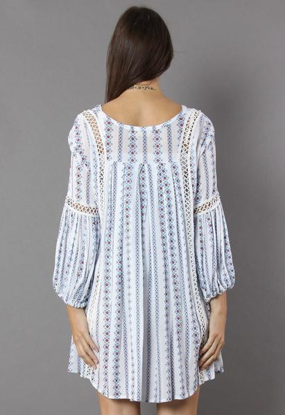 Daisy - V-Neck Pattern Tunic