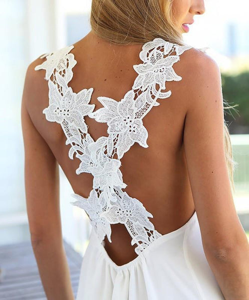 Wildflower - Backless Lace Dress