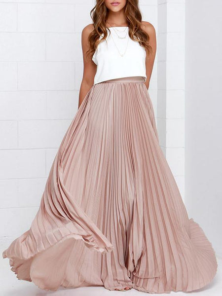 Pretty in Pink - Pleated Chiffon Skirt