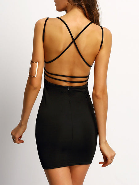 Colo - Criss-Cross Bodycon Dress