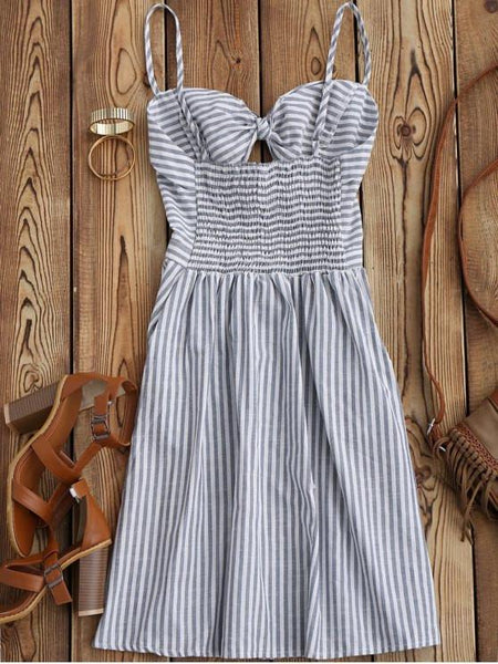 Barca - Striped Wrap Dress