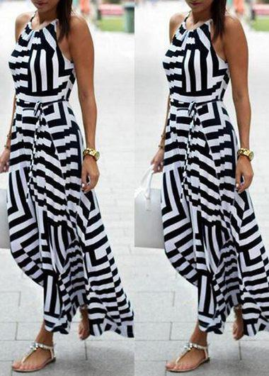 Striped Maxi Beach Dress