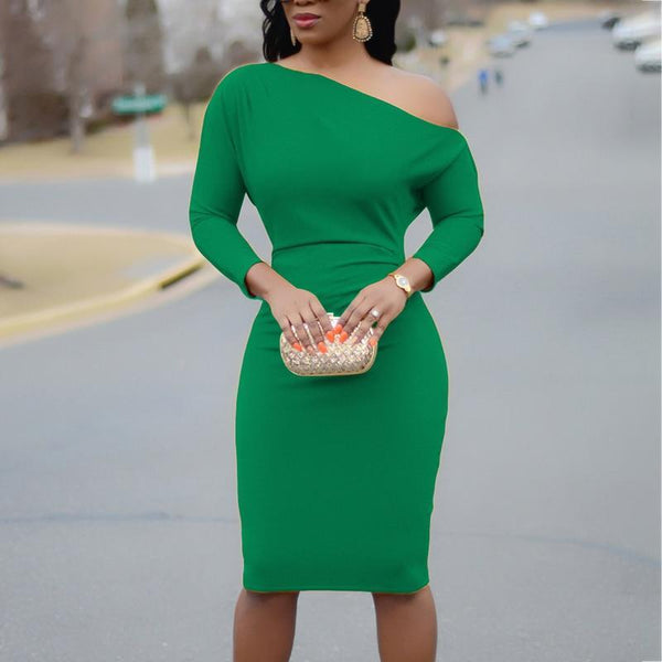 Cold Shoulder Half Sleeve Pencil Dress