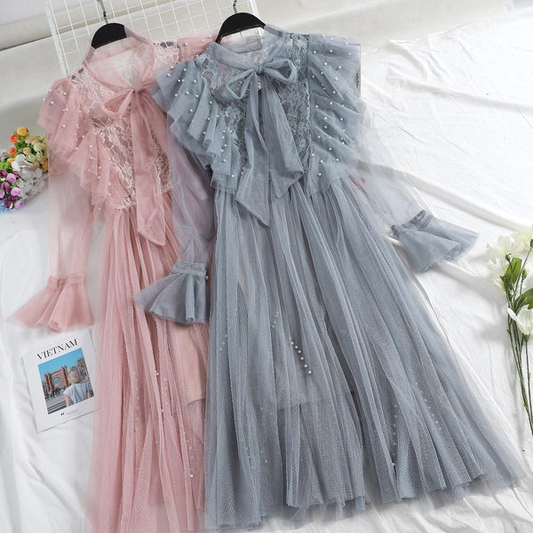Mellie - Ruffle Pleated Tulle Dress
