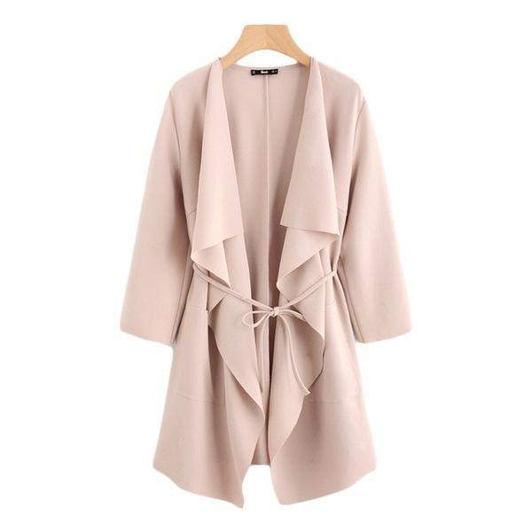 Waterfall Wrap Trench Coat