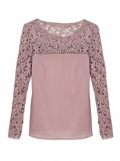 Stella - Lace Adorned Vintage Top