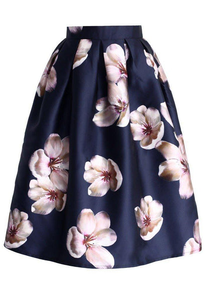 Satin Peach Blossom Skirt