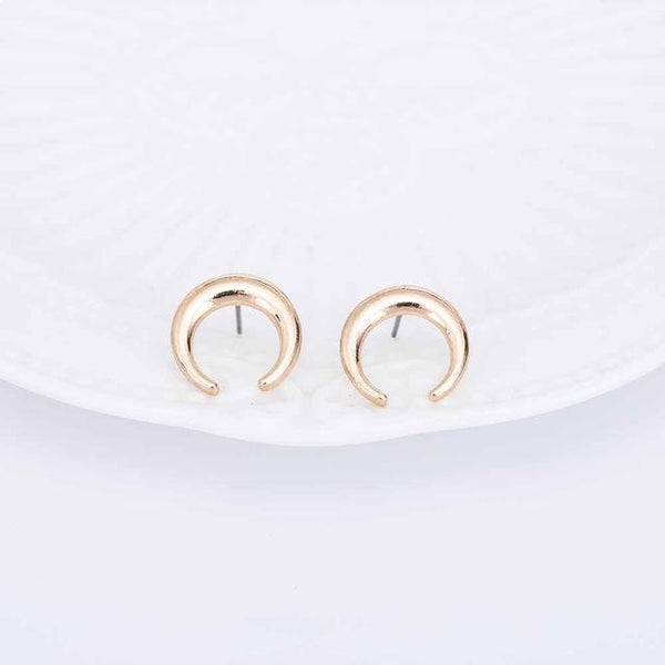 Retro Half Moon Earrings