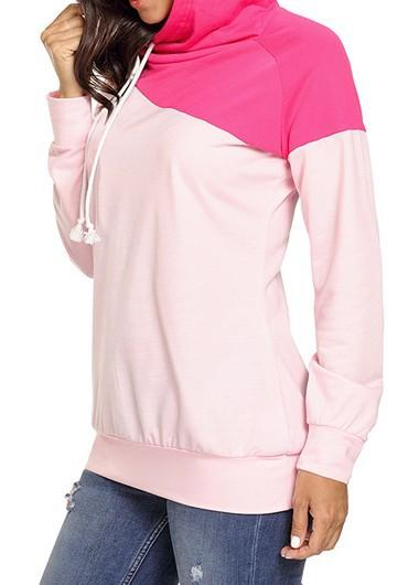 Eliza - Color Block Hooded Sweatshirt