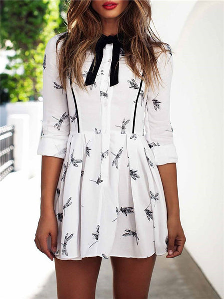 Dragonfly - Print Party Dress