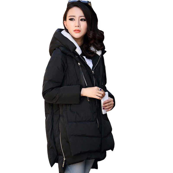 Era - Thick Hooded Plus Size Winter Warm Jacket