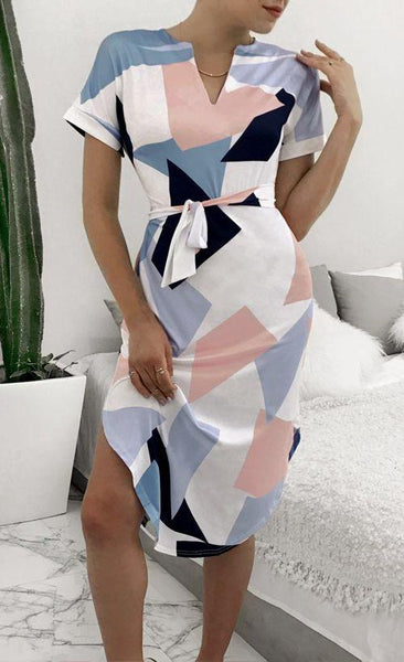 Sera - Geometric Pencil Dress