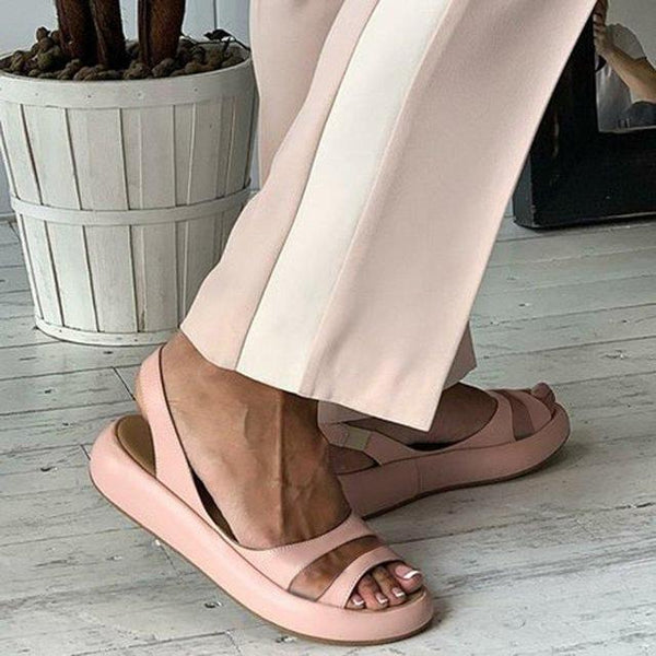 Harper - Low Platform Strappy Sandals