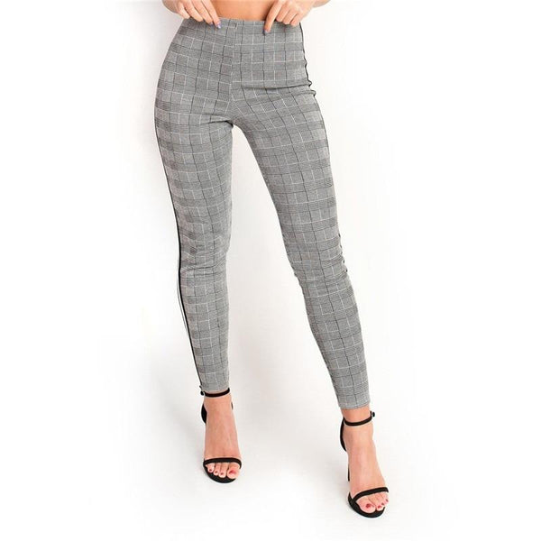 Rebecca - Elastic Side Strip Pants