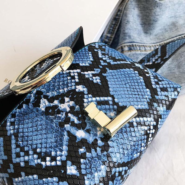 Earla - Snake Skin Pattern Waist Bag