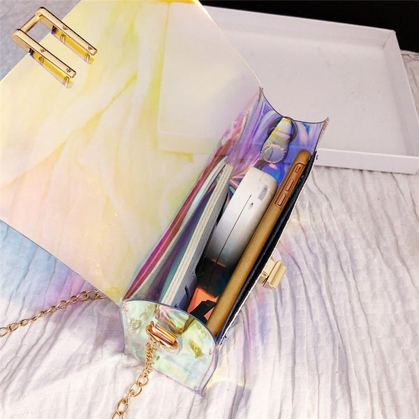 Bentlee - Laser Transparent Crossbody Handbag