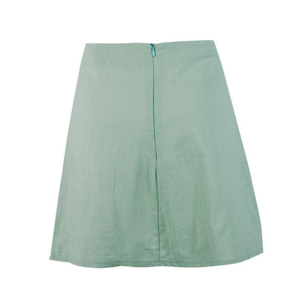 Christine - Split High Waist Mini Skirt