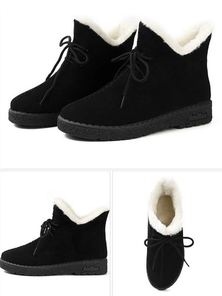 Kenyon - Fleece Lace Up Ankle Boots