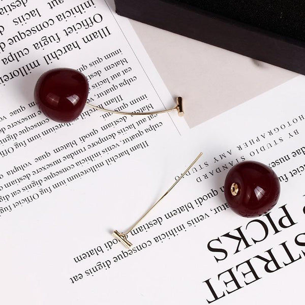 Cheri - Drop Cherry Earrings