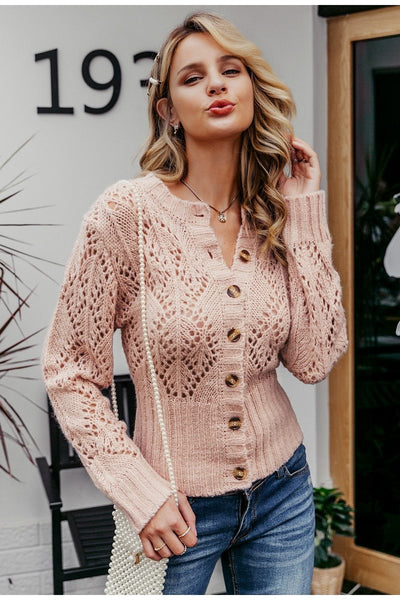 Paisley - Crochet Knitted Cardigan