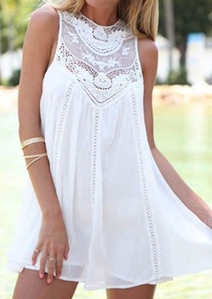 Lea - White Lace Dress