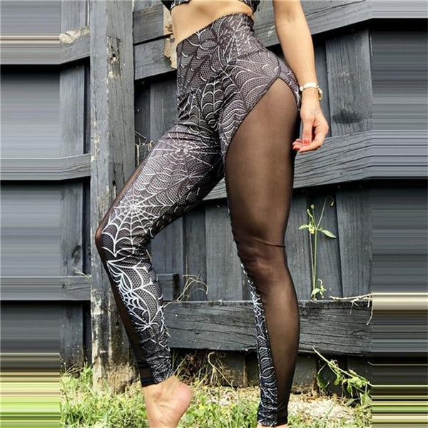 Calista - Spider Web Mesh Leggings
