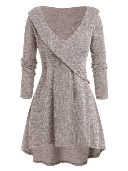 Andi - Wrap V-Neck A-Line Sweater