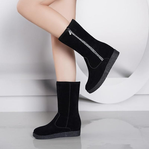 Eve - Fleece Lined Mid Calf Boots