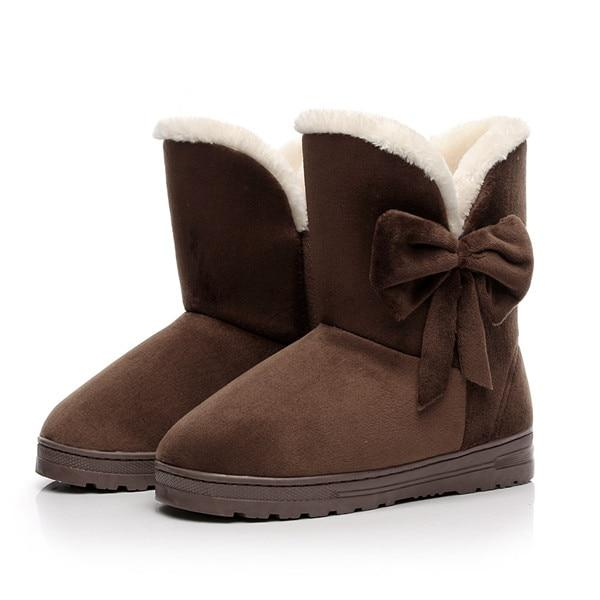 Etta - Bow Plush Ankle Boots