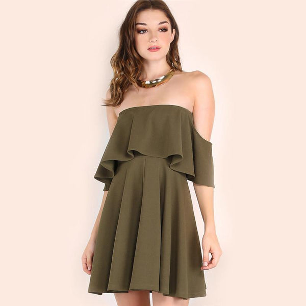 Keira - Ruffle Fold Dress