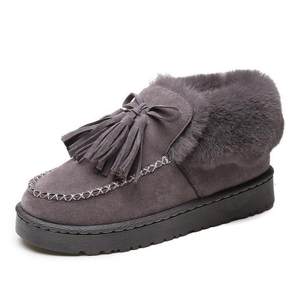 Leanna - Plush Mohican Style Ankle Boots