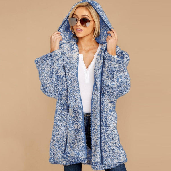 Kiara - Forefront Open Hooded Cashmere Casual Cardigan