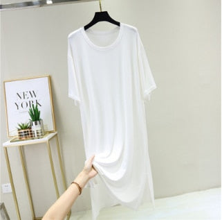Faye - Plus Size T-Shirt Dress Sleepwear