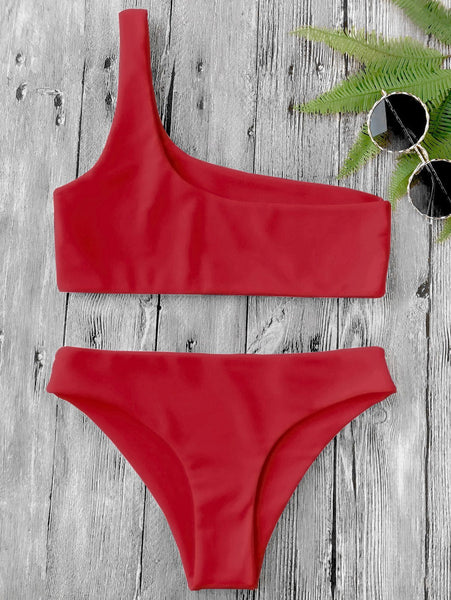 Sharee - One Shoulder Two Piece Swimsuit
