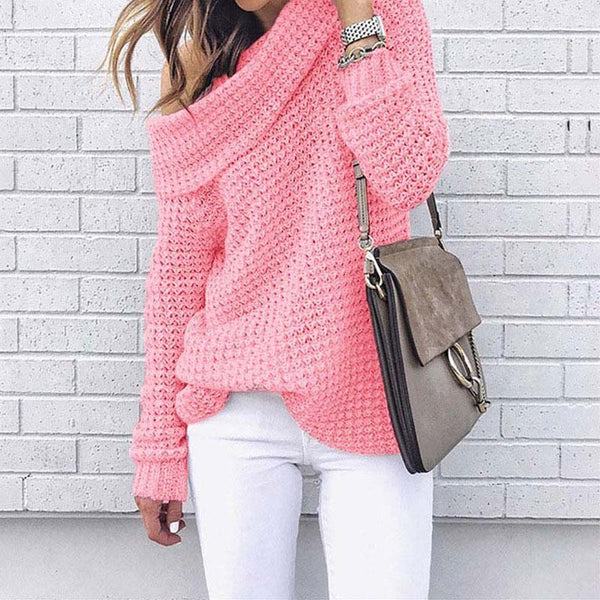 Kyla - Off Shoulder Knitted Sweater