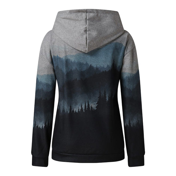 Comfy Mountain Landscape Hoodie