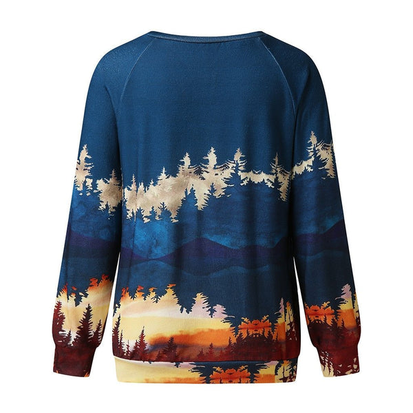 Fall Forest Crewneck Sweatshirt