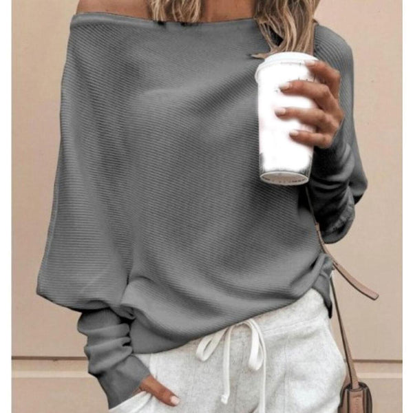 Imane - Casual Loose Fit Long Sleeve Top