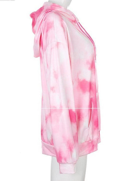 Nisha - Tie Dye Loose Hooded Sweatshirt