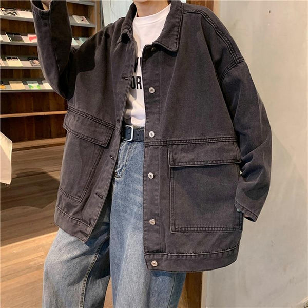 Fonda - Oversized Retro Denim Jacket