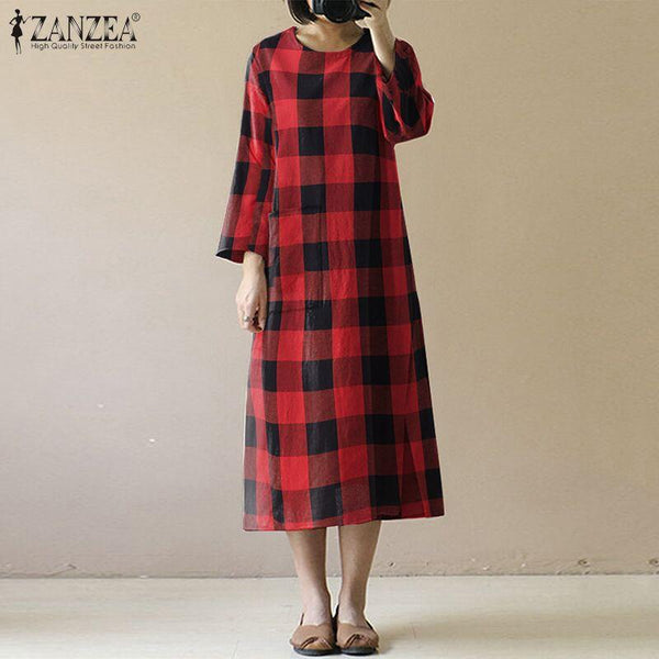 Penelope - Plaid Pattern Dress