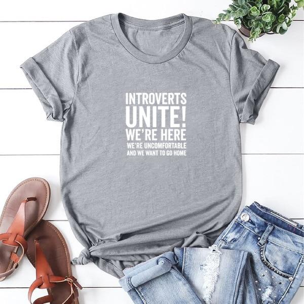Shelly - Introverts Unite Print Top