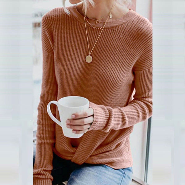 Sandy - Tied Long Sleeve Pullover