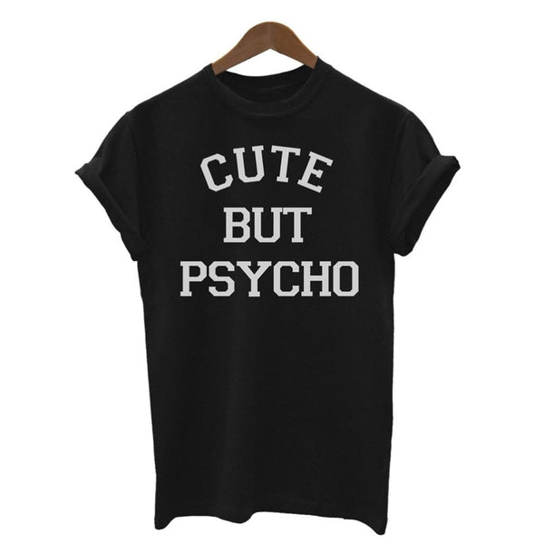 Cute But Psycho Short Sleeve Graphic Tee