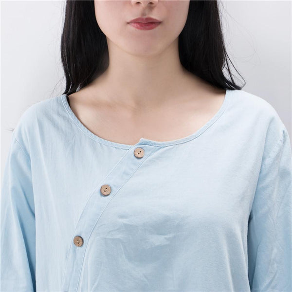 Tilt Oblique Button Top
