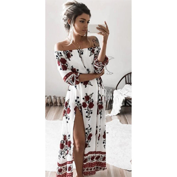 Mya - Split Floral Dress