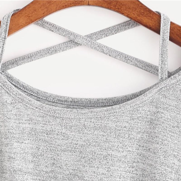 Madison - Crisscross Front Tie Long Sleeve T-Shirt
