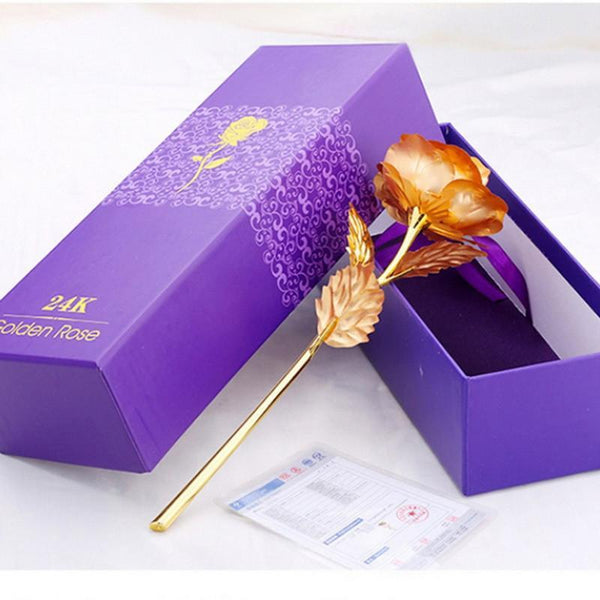 24kt Gold Foil Rose - With Box