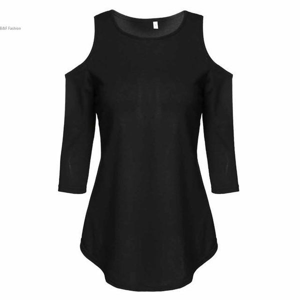 Black 3/4 Sleeve Tunic