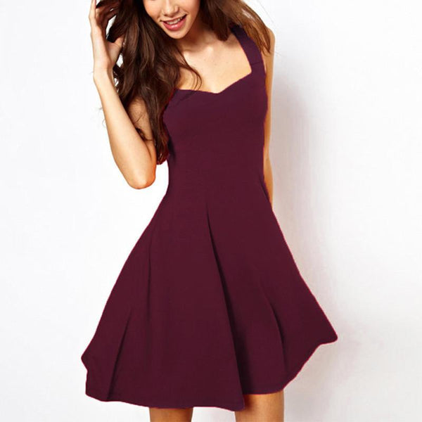 Maroon Flare Party Dress